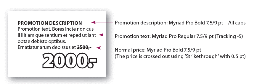 Promotion description, PIF and price | JYSK Blue Line